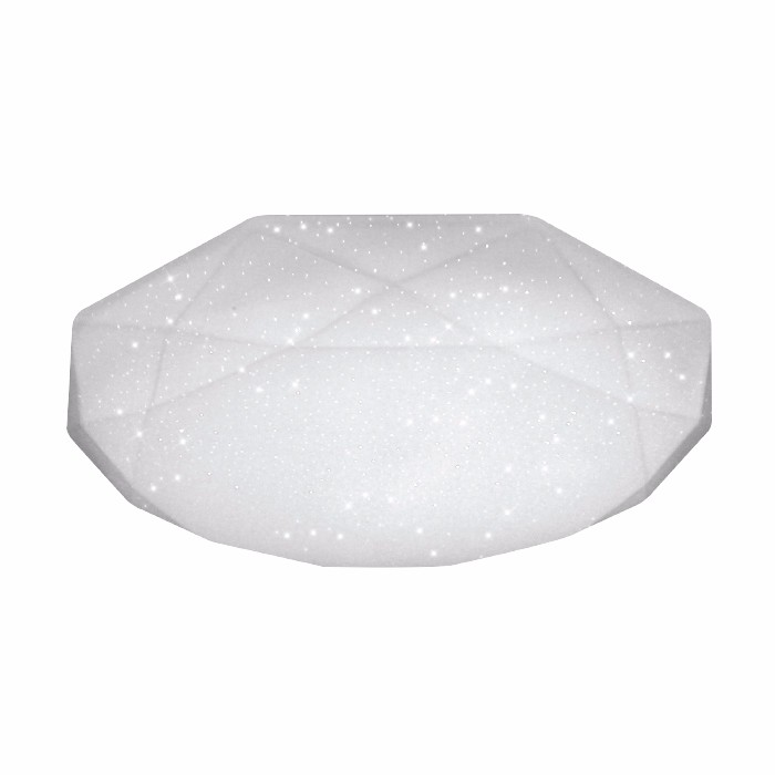 White frame indoor ceiling lamp with black diamond crystal for RM1056-430*430