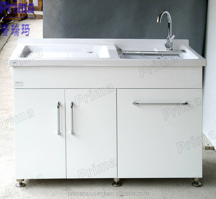 Laundry Sink Cabinet Wooden Bathroom Pr B0125