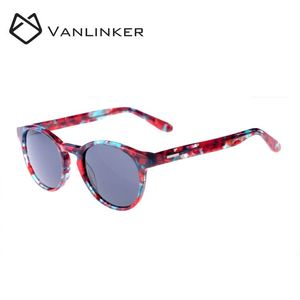 New Style Vintage Sunglasses Beautiful Fancy Round Shape Acetate Sunglasses With Wide Temple