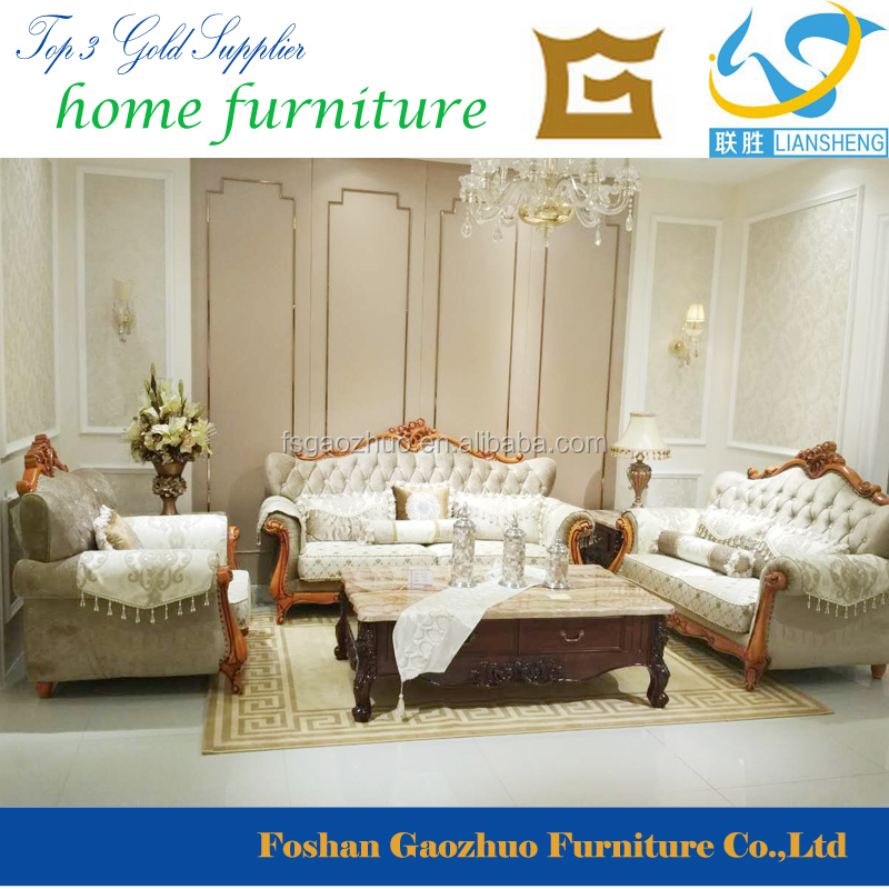 Simple European Style /Antique Living Room Furniture Sectional Sofa Set
