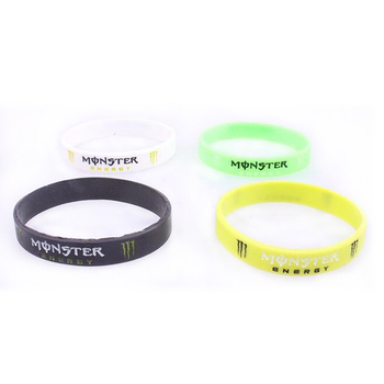 Rubber Brand Men Women Bracelets Jewelry With Words