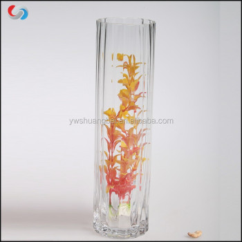 Wholesale Cheap Clear Tall Glass Cylinder Vases For Wedding