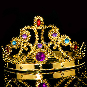 fashion party royal crown hat gold crown for kids adjustable king