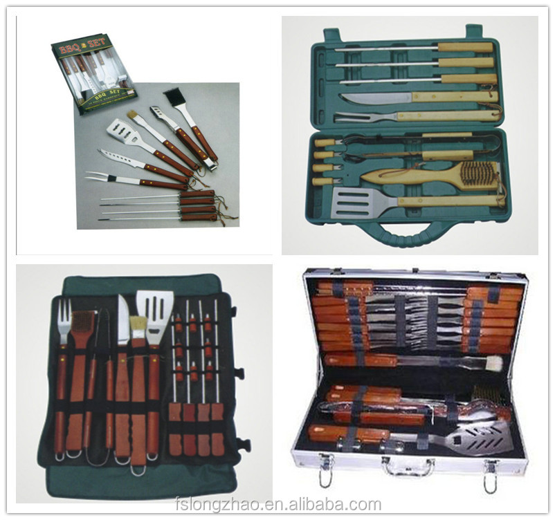 Exquisite aluminum box 5pcs BBQ tool set Barbecue Accessories