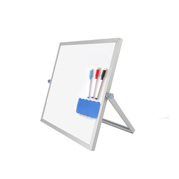 "Small Board for Desk 10"" x 10"" Magnetic Double Sided Portable Desktop White Board Easel Stand for Home Office Kitchen Bedroom"