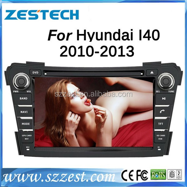 ZESTECH Touch Screen world map car dvd radio for Hyundai I40 with car stereo radio tv dual core