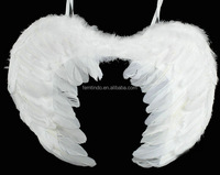 Cosplay White Red Large Angel Fairy Feather Wings for Halloween Fancy Dress Costume Accessory 45*35cm