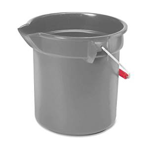 "Wholesale CASE of 15 - Rubbermaid Brute Utility Bucket-Brute Utility Bucket, 10 Quart, 10-1/2""D x10-1/4""H, Gray"