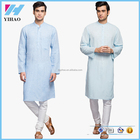 Men's Clothing Long Sleeve Knee Length Regular Fit Kurta Designs