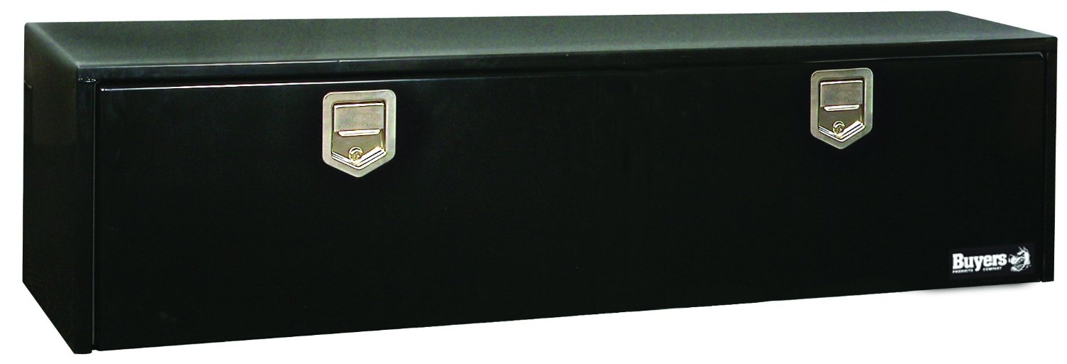 Buyers Products Black Steel Underbody Truck Box w/Paddle Latch (18x18x60 Inch)