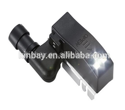 Touch sensing hinges lights with battery for cabinet/furniture hinges