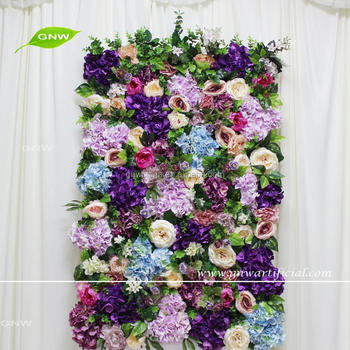 Gnw Mix Color And Artificial Flower Backdrop For Wedding Design Weddings Lighted Backdrops Buy Weddings Lighted Backdrops Wedding Backdrops For