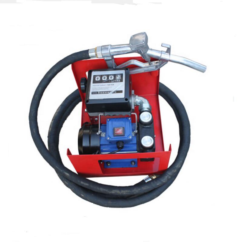 110V 550W Electric Oil Fuel Diesel Transfer Pump w// Meter Hose Automatic Nozzle