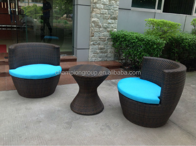 Outsunny 3 Piece Outdoor Stacking Rattan Wicker Patio Chair Set