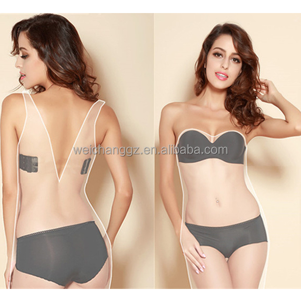 2155083d3e1 Plus Size Hot Girl Bra Models Nude Invisible Low Cut Nice Girls Bra ...