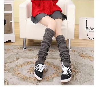 0db4d7058a8 Soft Comfy women Leg Warmer thigh high boot socks knitted leg warmers