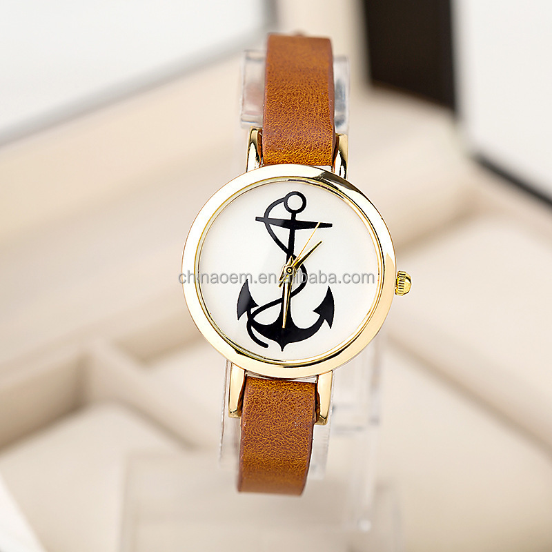 2104 New Arrial Cross Watch With Pu Leather Strap Women Watches