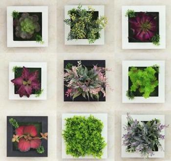 3D Artificial Plant Simulation Flower Frame Wall Decor Home Garden  Decorative Art Wall Hanging Flower 6u0026quot