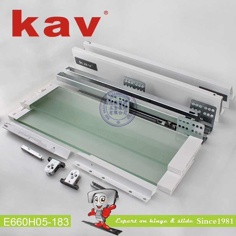 E660H05 Silence Double Wall Soft Closing Drawer Slide with Square Bar