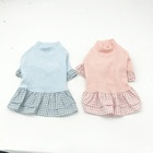 Cute sweater dress skirt fleece fancy Plaid pattern hot sale beautiful design cat pet clothing