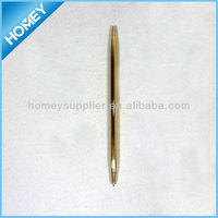 Jumbo slim golden finish metal pen