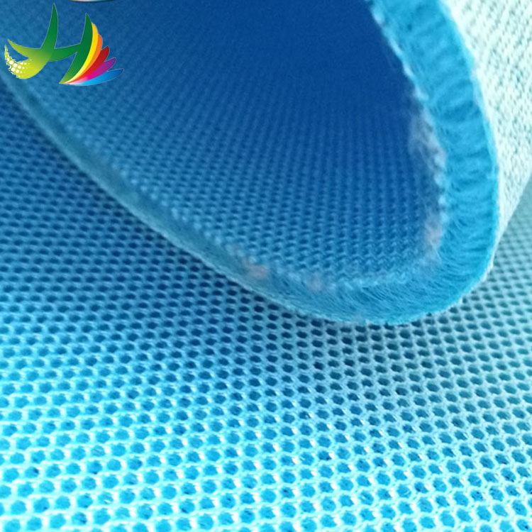 HH-080 Breathable sandwich mesh fabric textile for women's shoes 3d spacer sports air polyester fabric roll