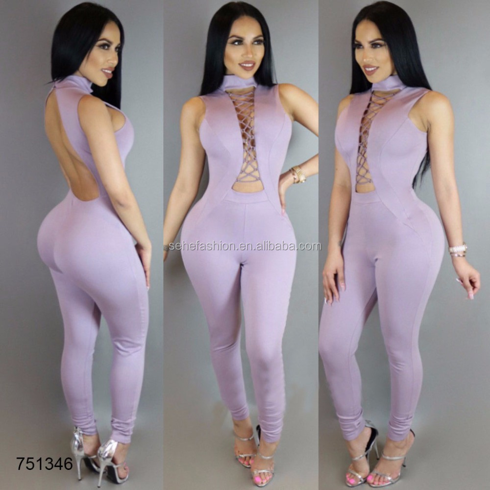 evening club wear women binding designs sexy rompers jumpsuits