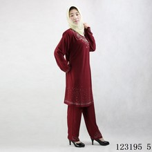 Crystal cottom mixed colors cute muslim abaya