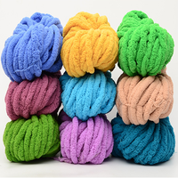 Soft 35 colors 2cm Jumbo Chunky thick Knit Vegan Chenille Yarn