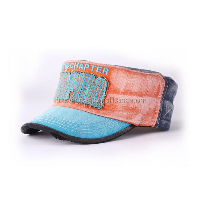 24a531c79bbe7 Calidad Superior venta Plain Jean lavado 100% algodón logotipo bordado gorra  militar