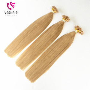 Silky Straight Wave Style and Pre-Bonded Hair Extension Type flat tip hair