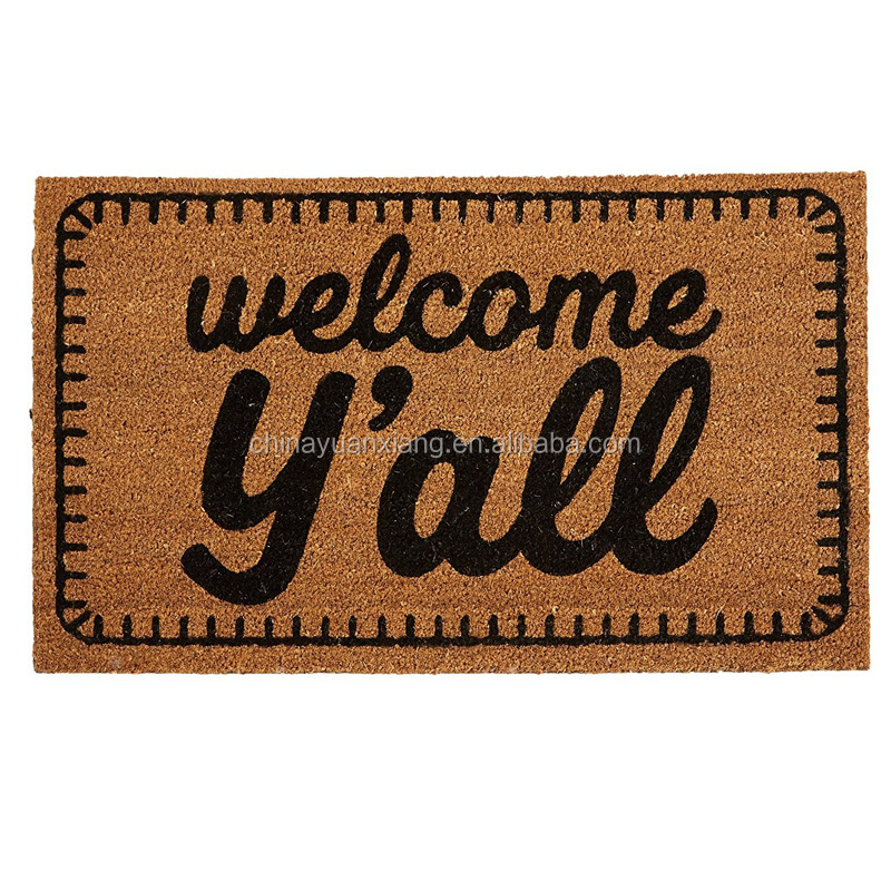 Wholesale Welcome Entrance Outdoor Natural Coco Coconut Fiber Coir Door Mats