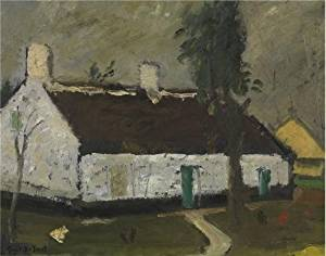 Oil Painting 'Gustave De Smet - White Farm House' Printing On Perfect Effect Canvas , 18x23 Inch / 46x58 Cm ,the Best Bathroom Artwork And Home Decoration And Gifts Is This Cheap But High Quality Art Decorative Art Decorative Prints On Canvas