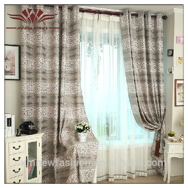 cortinas de lino tela de lino raya cortinas banda de polister cortinas
