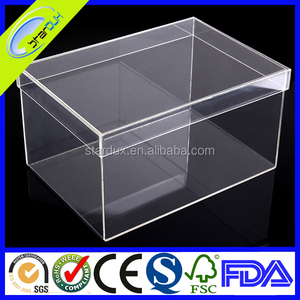 Clear PP/PVC/acrylic baby shoe box