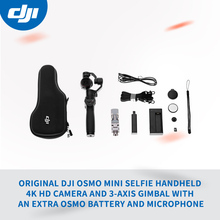 Original DJI Osmo Mini Selfie Handheld 4K Hd Camera and 3-Axis Gimbal with an extra Osmo Battery and Microphone