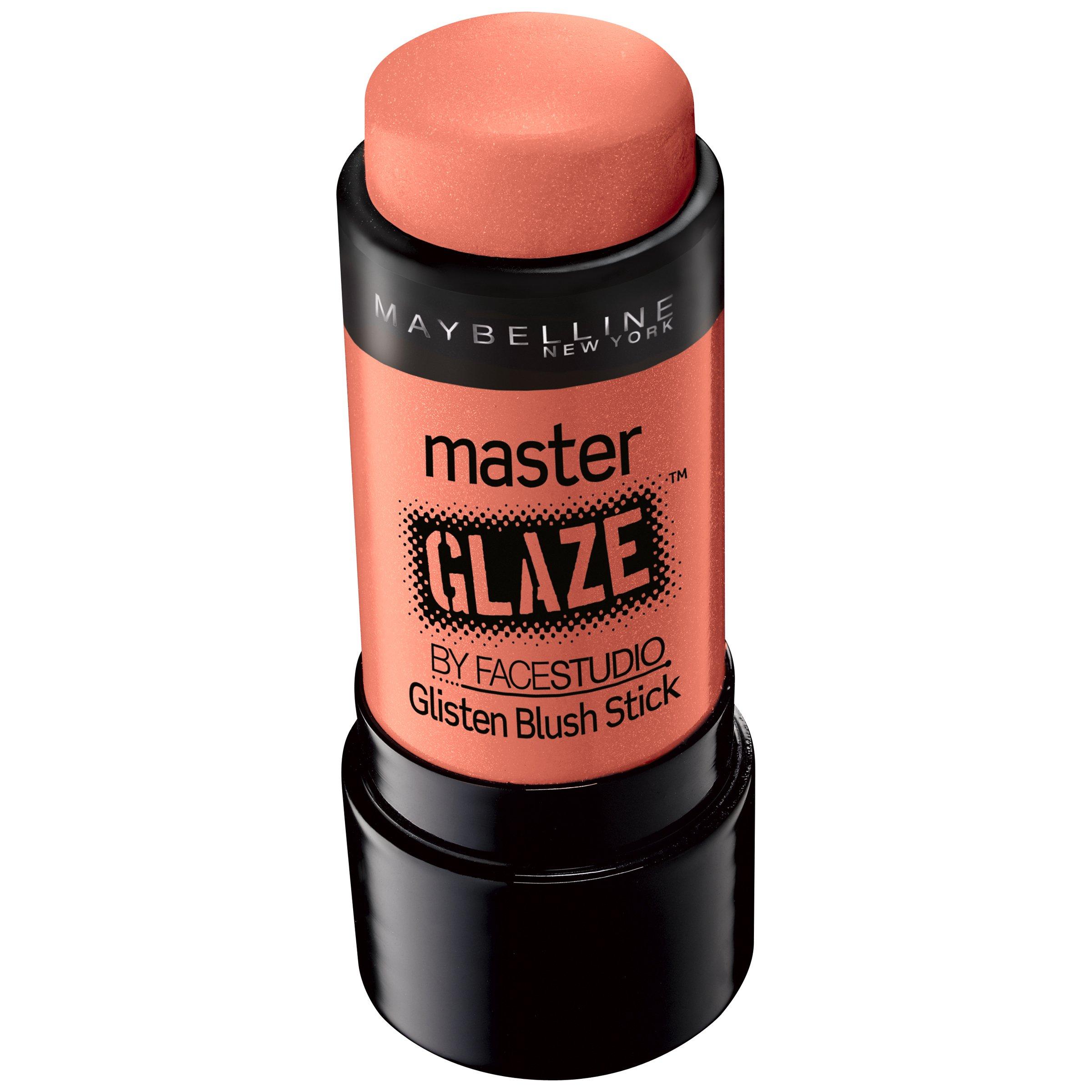 Maybelline New York Face Studio Master Glaze Glisten Blush Stick, Coral Sheen, 0.24 Ounce