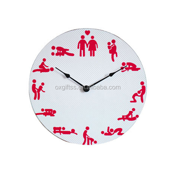 OXGIFT Made in China Alibaba wholesale Manufacture fashion European creative home retro wooden Fun Sex wall clock