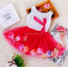 SEVWEN Toddler baby Girls Lace Bow Flower Petal Dress Pageant Party Tutu Dress
