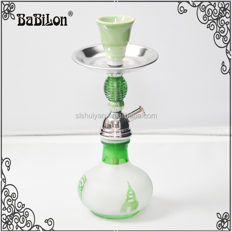 High quality 25cm colorful shisha bottle bowl Metal portable Arab hookah