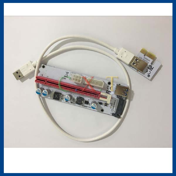 2017 newest white pci-e pcie 1x to 16x