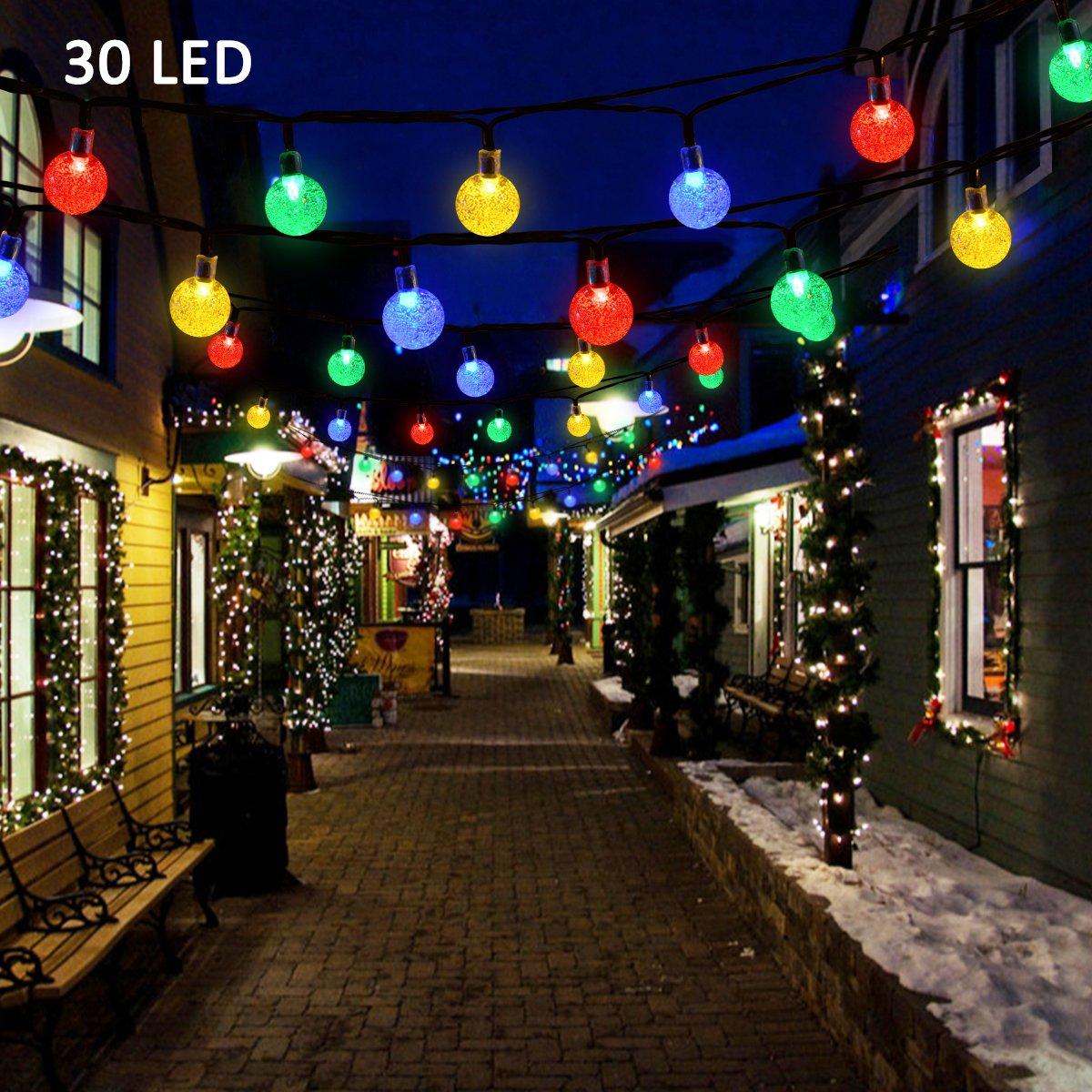 Buy Vmanoo Christmas Solar Powered Globe Lights 30 Led 19 7ft
