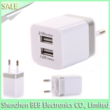 Black White EU dual port USB Wall Charger For Samsung Galaxy S2 S3 S4 S5 Note2 Note 3 For iPhone 6 6+ 5V 2A Fast Charging
