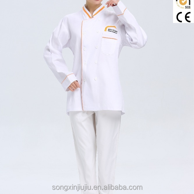 Custom OEM chef jacket executive chef uniform restaurant ober serveerster uniform