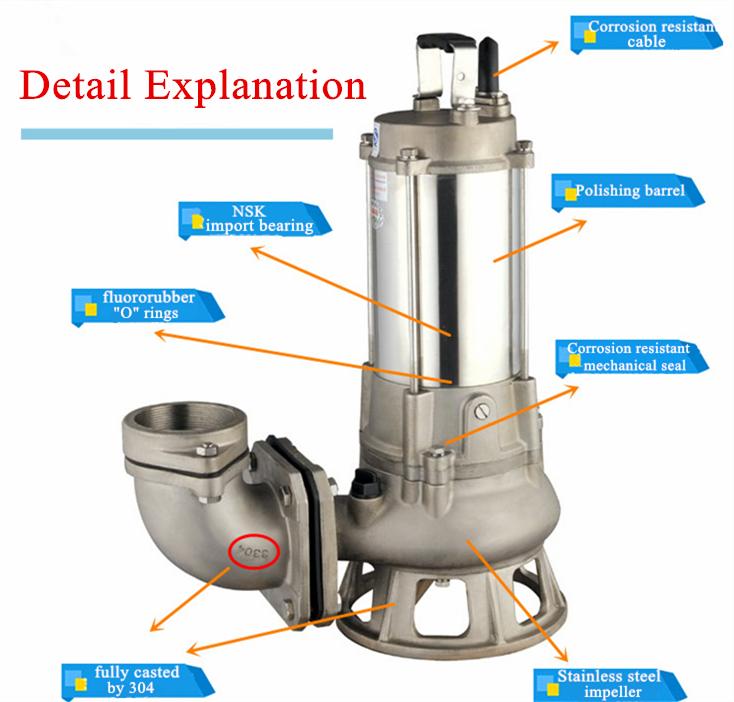 Serie s bomba de drenaje vertical bomba el ctrica for Bomba de agua electrica