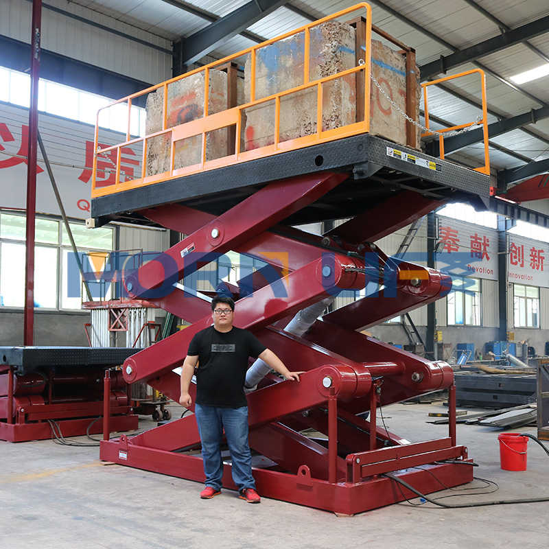 CE approved 2m lifting height hydraulic scissor lift