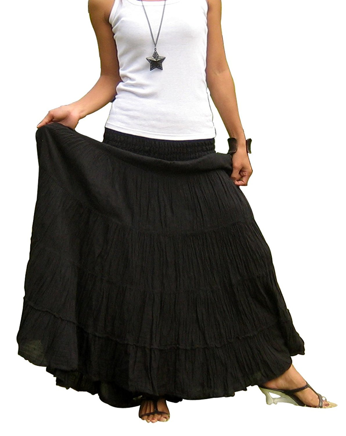 772810afde Get Quotations · Billy's Thai Shop Tiered Skirt Long Skirts for Women Boho  Gypsy Skirts Handmade Maxi Skirts for