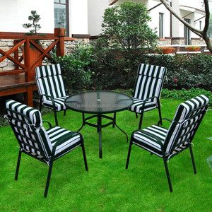 Steel folding outdoor garden furniture set