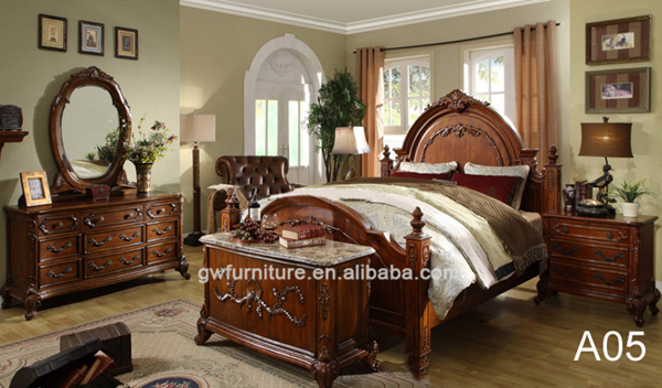 Wholesale chinese antique furniture royal furniture bedroom sets ...