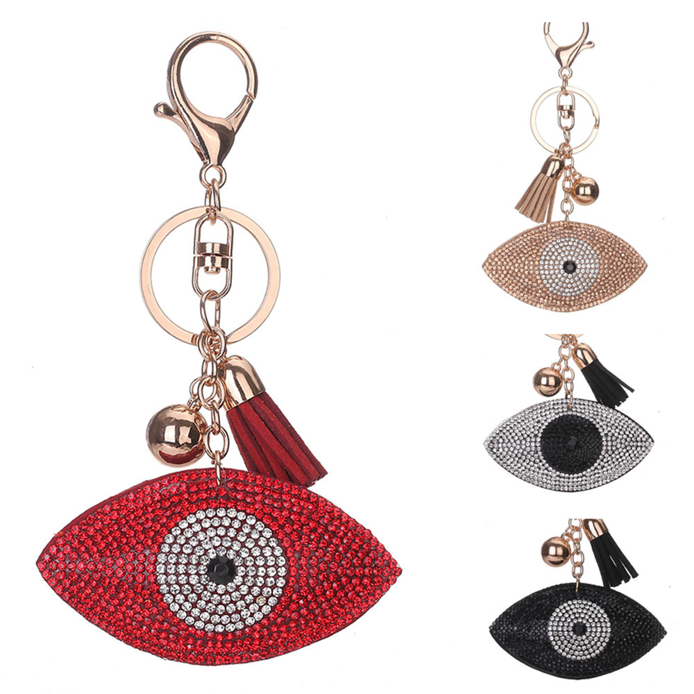 Promotional evil eye key chain With Tassel /evil eye key chain /Custom evil eye beads key chain